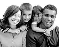 biracial family